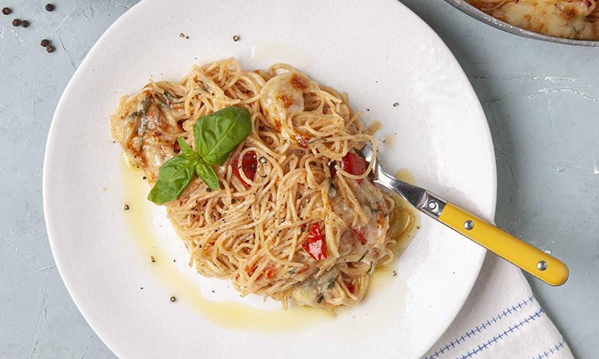 Σπαγγέτι ολικής με σάλτσα ντομάτας - Έτοιμα σε λιγότερο από μισή ώρα