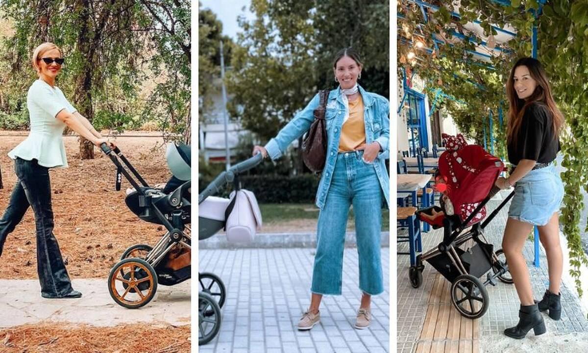 Stroller allert: Δείτε πώς βγαίνουν βόλτα οι Ελληνίδες celebs με τα μωρά τους