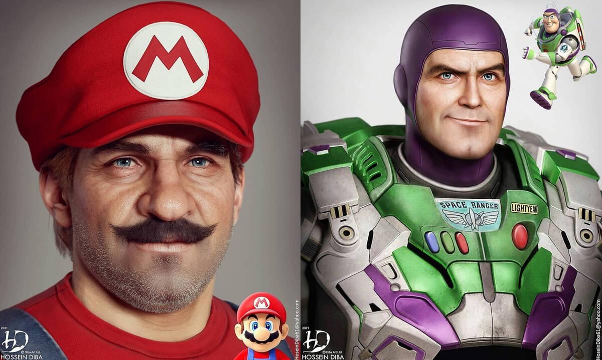 Πώς θα έμοιαζαν οι ήρωες cartoon και παιχνιδιών στην πραγματικότητα;