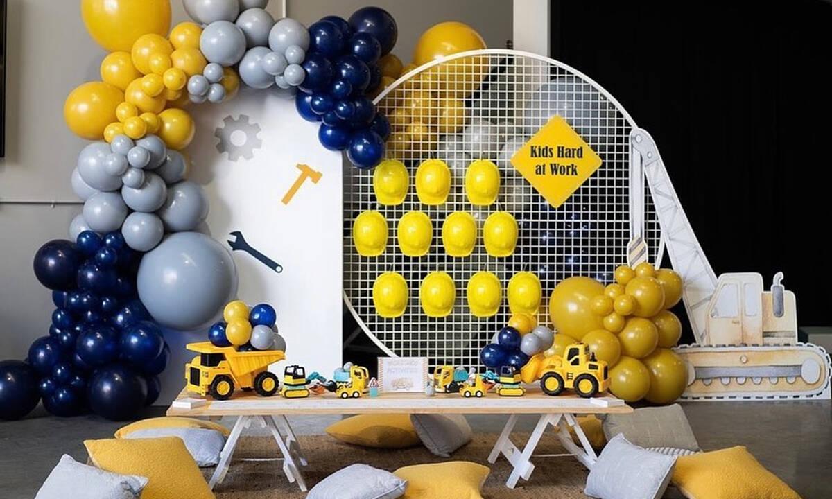 Πώς θα οργανώσετε το απόλυτο παιδικό πάρτι με θέμα το εργοτάξιο