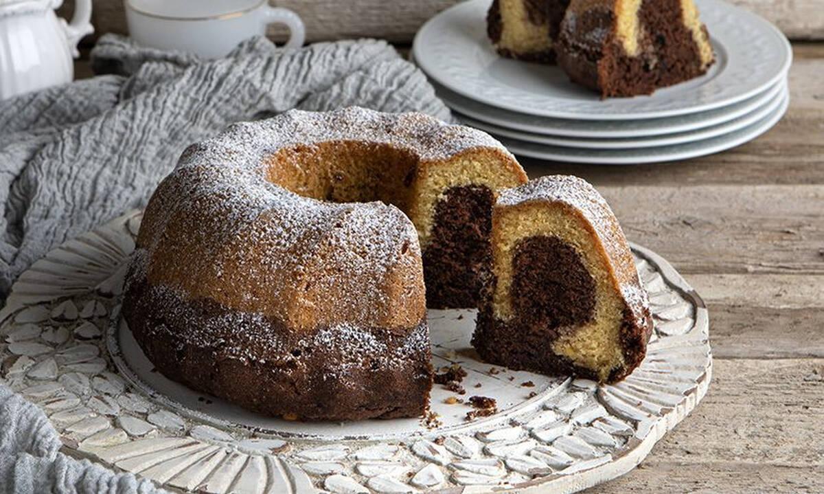 Κολατσιό για το σχολείο: Κλασικό κέικ βανίλια σοκολάτα