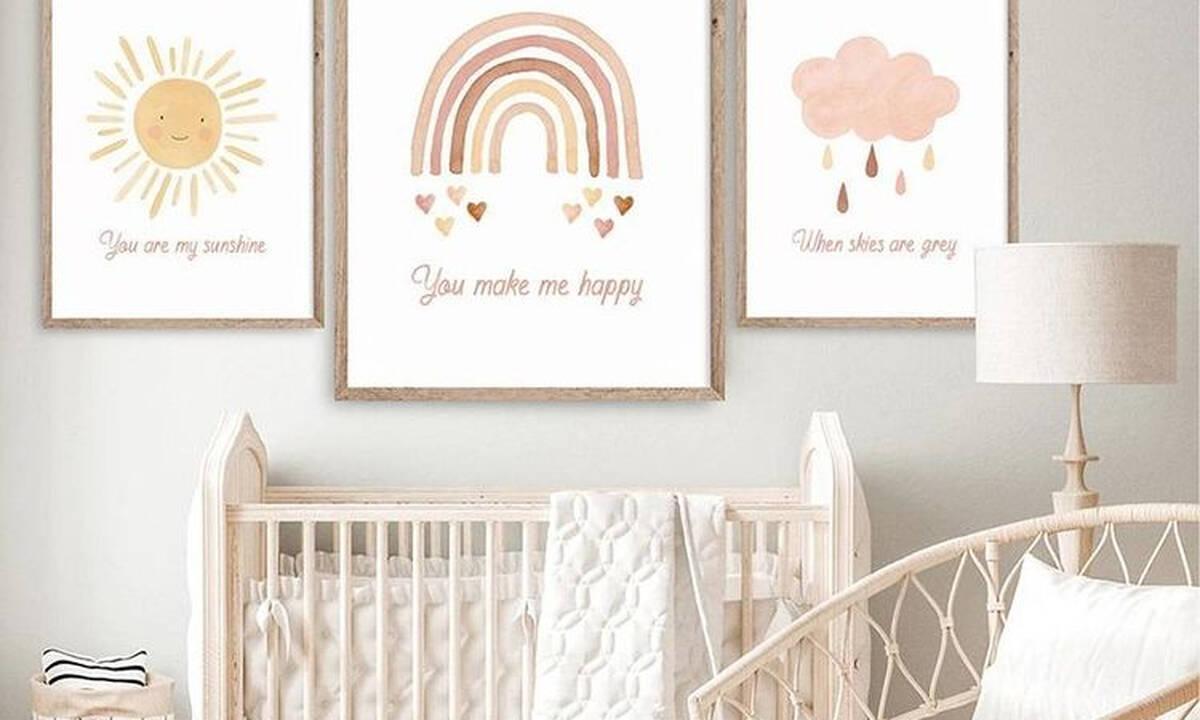 Βρεφικό δωμάτιο: Υπέροχες ιδέες για να διακοσμήσετε τους τοίχους (εικόνες)