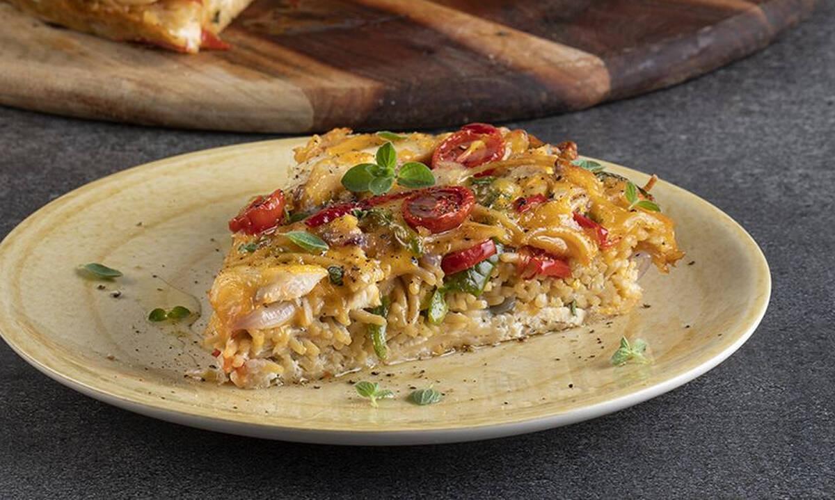 Φριτάτα με ζυμαρικά και κοτόπουλο - Εύκολο φαγητό για όλη την οικογένεια