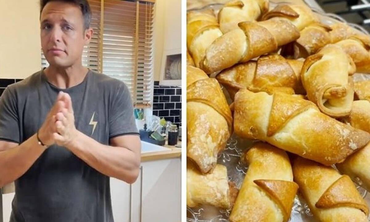 Σάββας Πούμπουρας: Έφτιαξε κρουασανο- τυροπιτάκια κι αυτή είναι η συνταγή