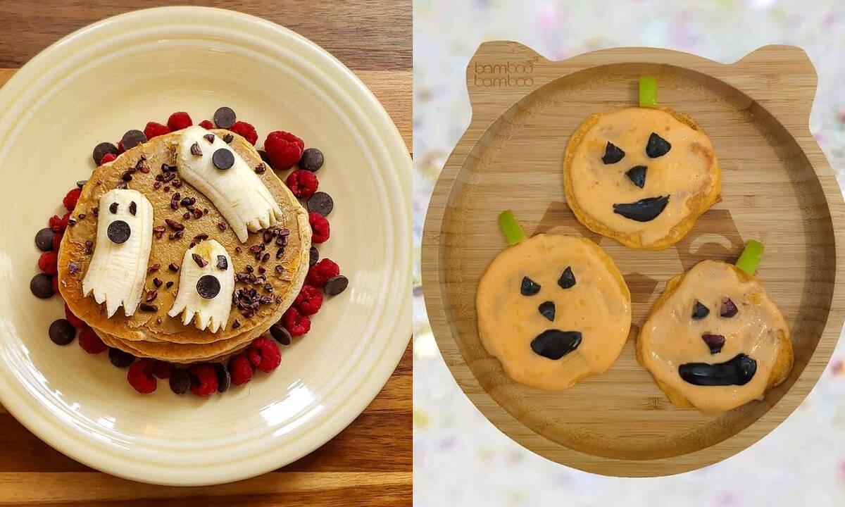 Ιδέες για Halloween pancakes που θα ξετρελάνουν τα παιδιά (εικόνες)