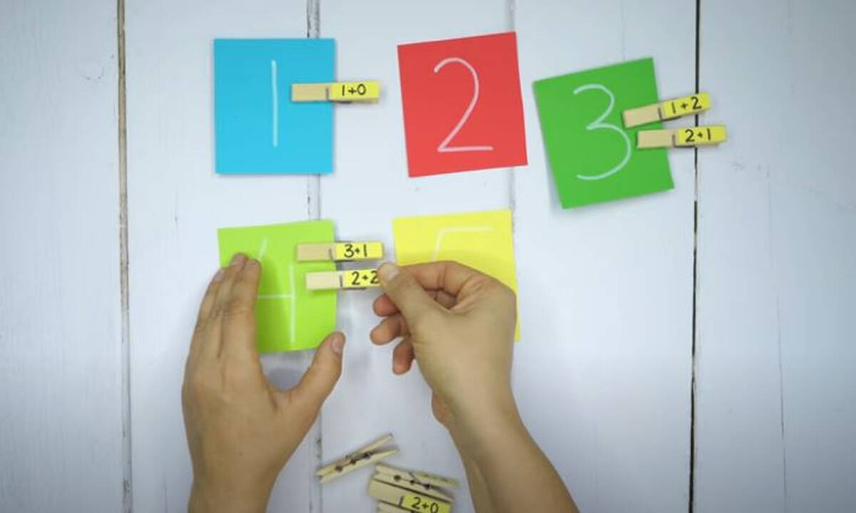 Πέντε αυτοσχέδια παιχνίδια για να κάνετε εξάσκηση στην πρόσθεση (vid)