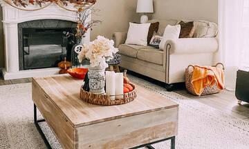 Φθινοπωρινές ιδέες για να διακοσμήσετε το καθιστικό σας (εικόνες + vid)