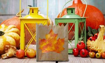 Κατασκευές για παιδιά: Φτιάξτε φθινοπωρινά φαναράκια με χάρτινες σακούλες