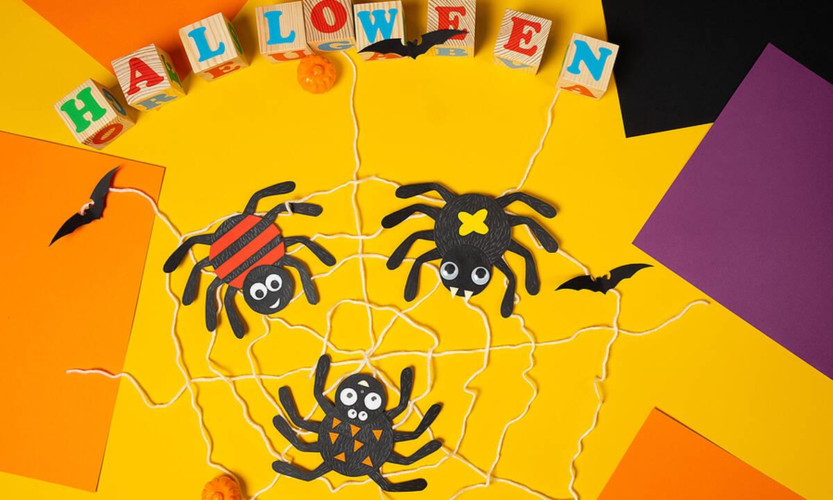 Χειροτεχνίες για παιδιά: Φτιάξτε για το Halloween αραχνούλες (εικόνες)