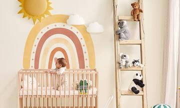 Βρεφικό δωμάτιο: Διακοσμήστε το με ουράνια τόξα (εικόνες)
