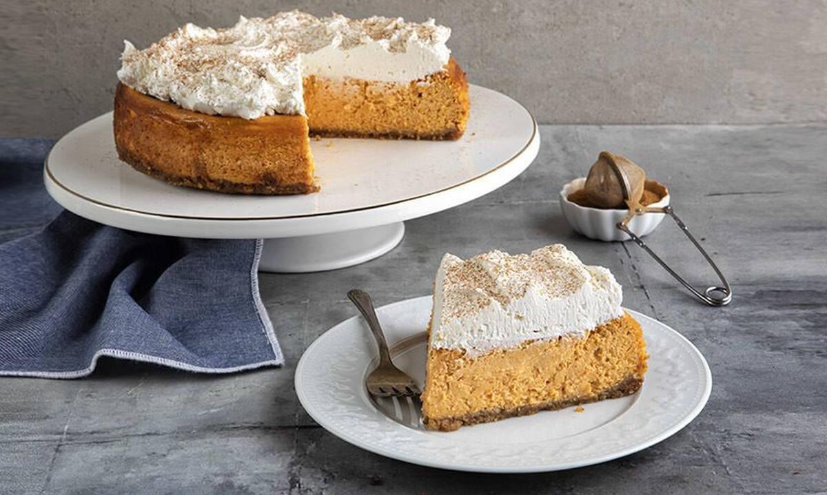 Cheesecake με τη βασίλισσα του φθινοπώρου - Την γλυκιά πορτοκαλί κολοκύθα