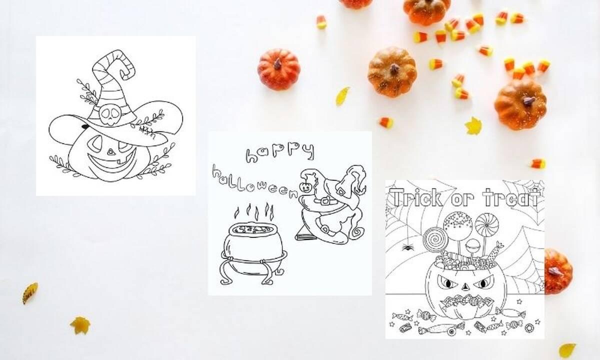 Δωρεάν Halloween χρωμοσελίδες για παιδιά