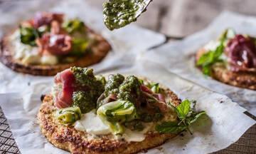 Εύκολη και υγιεινή πίτσα με βάση κουνουπιδιού